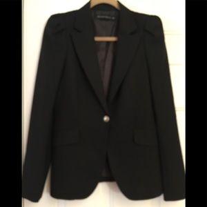 Zara Black Blazer Jacket Lined Size Medium